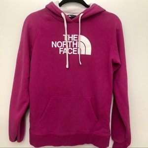 The North Face hot pink hoodie - M